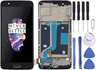 QGTONG-AU TFT Material LCD Screen and Digitizer Full Assembly with Frame for OnePlus 5 A5000