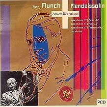 Mendelssohn: Symphonies No. 3 Scottish, No. 4 Italian, No. 5 Reformation & Overtures Artistes Repertoires