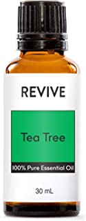 REVIVE Essential Oils Set For Diffuser, Humidifier, Massage, Aromatherapy, Skin & Hair Care - Tea Tree - 30 mL / 1 Ounce