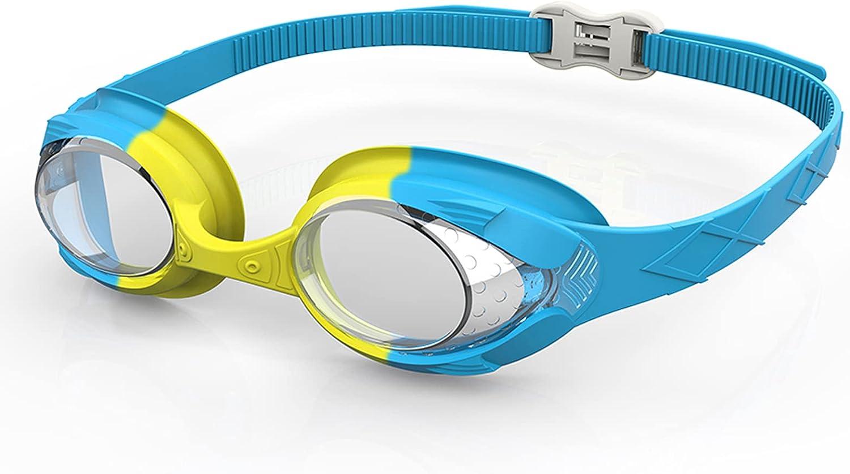 Gafas Natacion Niños - Gafas de Natación Antivaho Gafas Piscina Niños de 4 a 12 años Gafas de Natación Fácilmente Ajustables para Niños Niñas