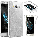 Etsue Coque Compatible avec Samsung Galaxy Grand Prime Etui Intégral 360 Degres Full Body Protection Coque Bling Brillant Glitter...