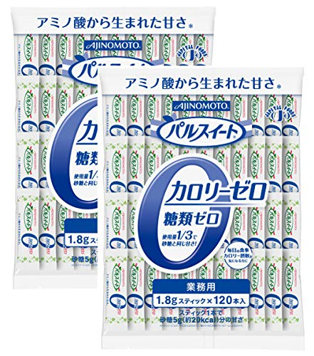 味の素 パルスイート カロリーゼロ 120本 大正製薬 リビタ