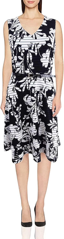 Tommy Hilfiger V-Neck Sleeveless Fit and Flare Dress