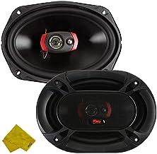 Sinful Sounds 6x9″ 3-Way Car Audio Coaxial Speakers – 150 Watt Max/100 Watt RMS, Car Audio Stereo Speakers Component- 88DB... photo