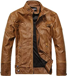 Faux Leather Jackets for Men PU Black Brown Leather Jacket Coats Outwear
