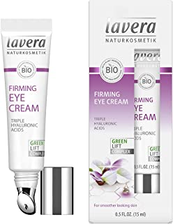 lavera Firming Eye Cream: Moisturizing Eye Treatment to reduce Appearance of Wrinkles, Fine Lines, Puffiness, Dark Circle and Bags in delicate eye area for Day & Night – 0.5 Oz