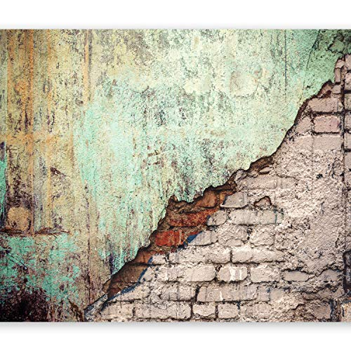 murando Fototapete 400x280 cm Vlies Tapeten Wandtapete XXL Moderne Wanddeko Design Wand Dekoration Wohnzimmer Schlafzimmer Büro Flur Ziegel Mauer Beton TexturZiegel Mauer Beton Textur f-C-0126-a-b