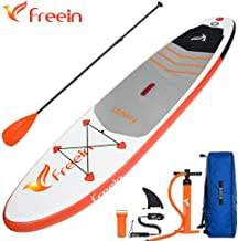 OXYVAN Freein Inflatable Stand Up Paddle Board 10'/11'(6' Thick) Universal Sup with Double Layer Design, Nonslip Deck, Storage Bag, Manual Pump, Coil Leash and Repair Kit …