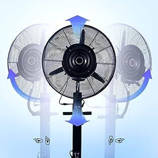 XFPINK Móvil Giratorio Oscilante Pedestal Grande Metal Ventilador Negro Grande Mecánico Humidificador Eléctrico Niebla de Agua Refrigeración Ahorro de Espacio Inicio Fábrica 71 / 81cm