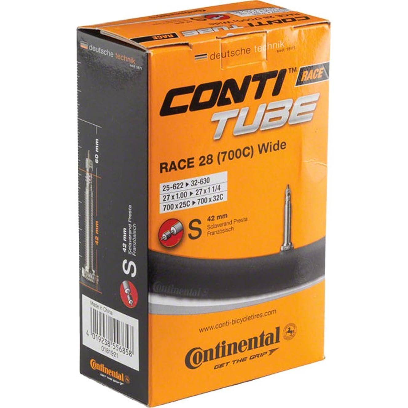 Continental 42mm Presta Valve Tube, Black, 700 x 25-32cc