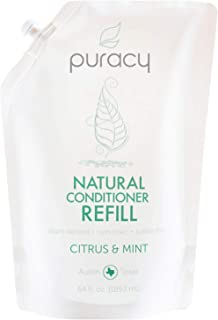 Puracy Natural Conditioner Refill, Silicone-Free, No Harsh Chemicals, All Hair Types, 64 Ounce