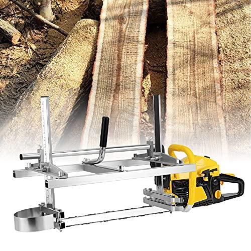 HUKOER Kettensäge Mühle Tragbare Chainsaw Mill Sägewerk Holz Motorsäge Aluminium Stahl Mig Schweißen Sägewerk 14'-48' Planking Lumber Cutting Bar (90CM)