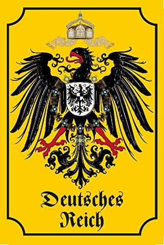 Schatzmix Deutsches Kaiserreich Historisches Wappen Blechschild, Deutsches reich, Adler, dekoschild