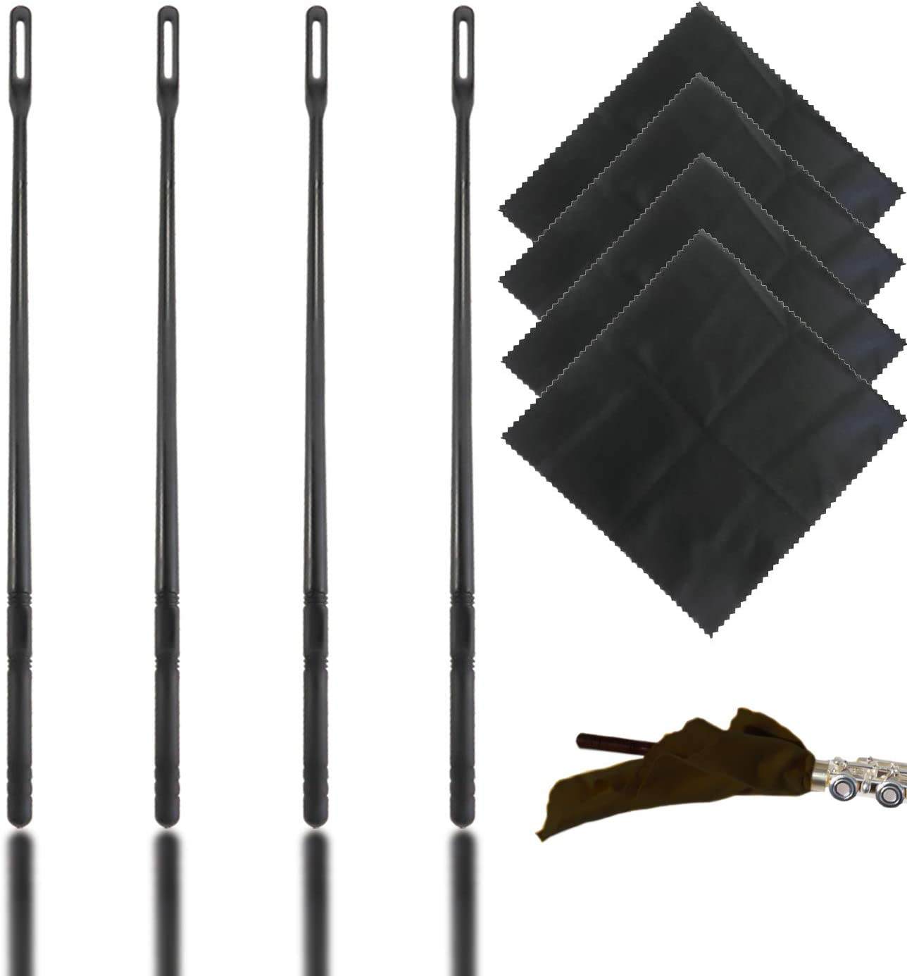 LeonBach 4 Sets Genuine Free Shipping Flute Brand Cheap Sale Venue Cleaning Cloth and Rod Kit