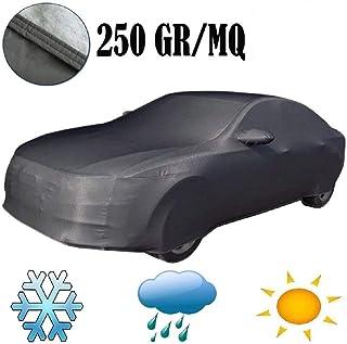 Muchkey Telo Copriauto Invernale da Esterno Impermeabile per Peugeot 206 Esterni con Strisce Riflettenti Resistente ad Acqua Polvere Neve Sole Freddo Giallo
