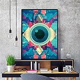 Pintura sin Marco Psychedelic Abstract Eye Canvas Art Print Poster Imagen de la Pared Sala de Estar decoración del hogarZGQ3875 30X40cm