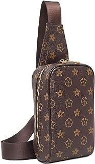 Chest Bag for Men Leather Sling Backpack Crossbody Shoulder Bag Women Travel Sling Daypack