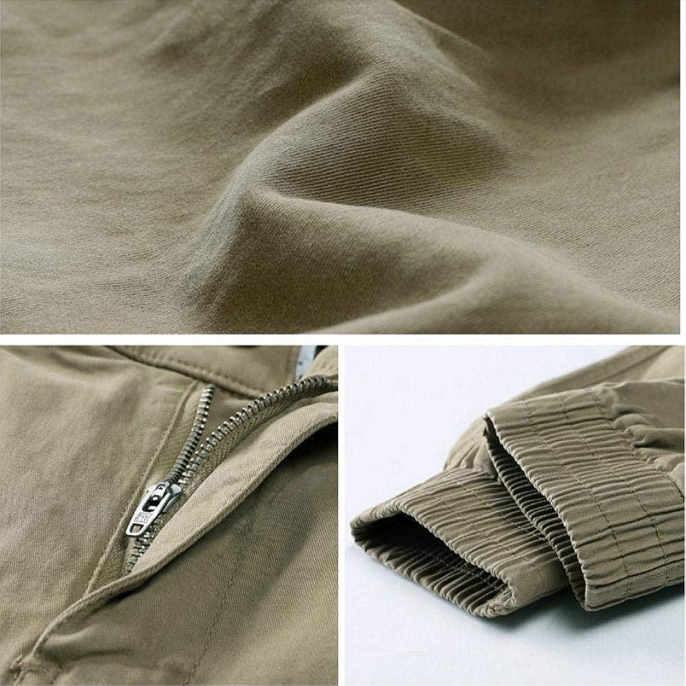 Meaeo Combinaison De Mode Hommes Casual Pantalon Cargo Coton Hommes Noir Jogger Pantalon Mâle Plus La Taille Lâche Pantalon De Sport Pantalon d'hiver Garçons Kaki