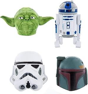 Disney Parks Star Wars Car Antenna Topper Top Set of 4 R2D2 Boba Fett Yoda Storm Trooper R2 D2