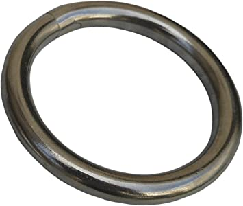 HandyStraps Mooring Rings Round Ring 10 x 6mm x 25mm Stainless Steel Marine