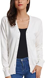 Women's Long Sleeve Button Down Vee Neck Classic Sweater...