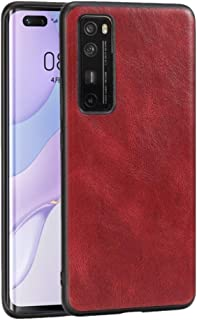 LENASH För Huawei Nova 7 Pro PU + PC + TPU-fodral. Fallskydd (Color : Red)