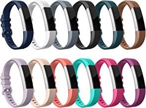 RedTaro Replacement Bands for Fitbit Alta HR/Alta(12 Pack) - Silicone Wristbands Bracelet for Women Men, Small and Large