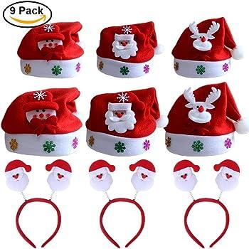 Feltro Rosso 40cm Babbo Natale Babbo Natale Cappello Per Adulti Costume Festa Accessori