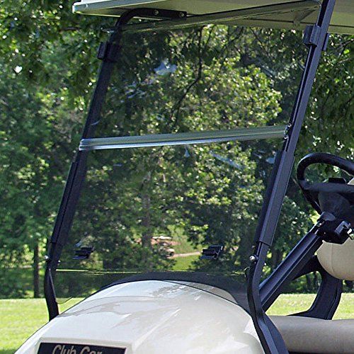 Club Car Precedent Tinted Fold Down Impact Resistant Windshield for CC Precedent Golf Cart INSTALLS & UNINSTALLS in Minutes!