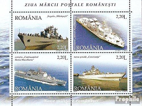 Prophila Collection Rumänien Block358 (kompl.Ausg.) 2005 Tag der Briefmarke - Kriegsschiffe (Briefmarken für Sammler) Militär