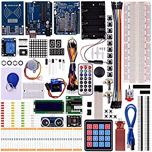 Kuman arduino RFID Starter Kit for UNO R3 Nano Learners beginner with Tutorial, Complete 48 Set kits of Arduino Components With UNO R3 LCD1602 Micro servo Breadboard and Jumper Wires K25