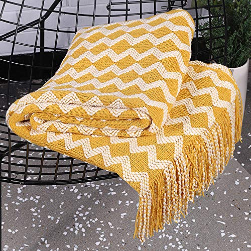 Blanket Sofa, Coton Super Doux Grand Fauteuil canapé Couverture Canapé Couvre Blanket Sofa Fauteuil Décoration Douceur d'intérieur Jete de canape a Franges 120x220cm