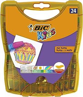 BIC Kids Pastel à l'Huile - Couleurs Assorties, Boîte Durable de 24