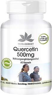Quercetina 500mg – Altamente dosificada y vegana – 60 cápsulas