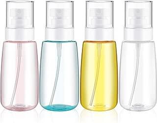 4 Pieces 3.4 Oz (100ML) Travel Spray Bottles Mist Spray Bottle Fine Mist Spray Bottles Refillable Travel Containers for Skincare Lotion/ Makeup Sprayer/ Perfumes/ Cosmetic