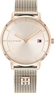 Tommy Hilfiger Womens Analogue Quartz Watch Tea with Stainless Steel Mesh Band