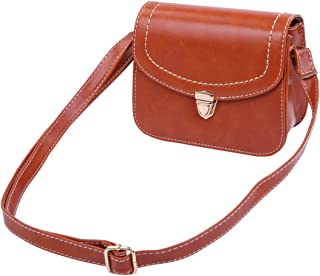 Premium Solid Color Small PU Leather Flap Clutch Crossbody Shoulder Bag