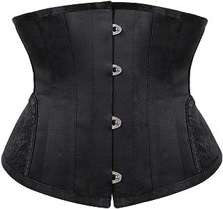 Waist Trainer Corsets for Women Weight Loss 14 Spiral Steel Boneds Bustiers Short Torso Hourglass Silhouette Body Shaper (...