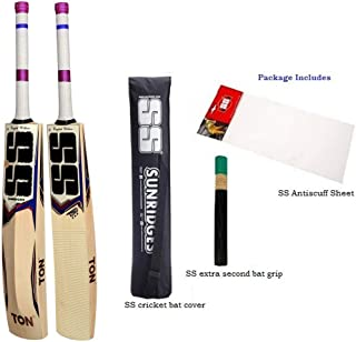SS T20 Zap English Willow Cricket Bat (Free Extra Grip Dispatch as per Availability, Anti Scuff Sheet & Bat Cover Included)