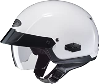 HJC IS-Cruiser Half-Shell Motorcycle Riding Helmet (White, Large)