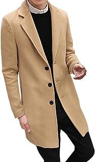 BYSTE Autunno Inverno Uomo Formale Singolo Breasted capire Cappotto Giacca di Lana Lungo Giacca