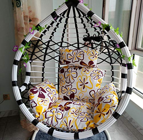 Afjyar Bird's Nest Hanging Chair Double Hanging Basket Wicker Chair Balcony Adult Rocking Chair Swing Lazy Household Hammock Indoor Cradle Chair