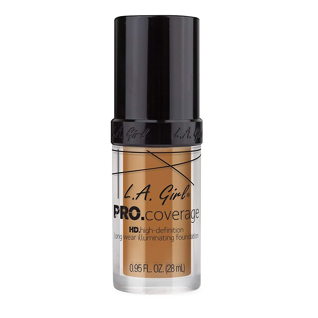 政治家パッド細胞L.A. Girl Pro Coverage Illuminating Foundation - Bronze (並行輸入品)