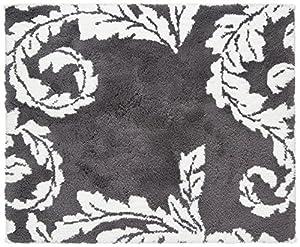 Kleine Wolke 4030901433 Badteppich Acanthus 50 x 60 cm, anthrazit