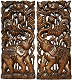Asiana Home Decor Carved Wood Wall Panel-...