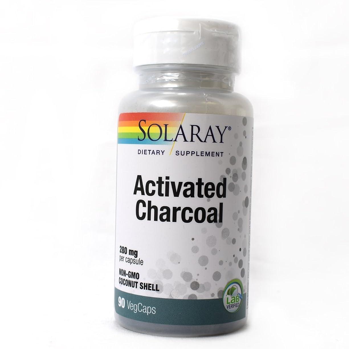 ベルト無傷肌Solaray - 活動化させた木炭 280 mg。90カプセル