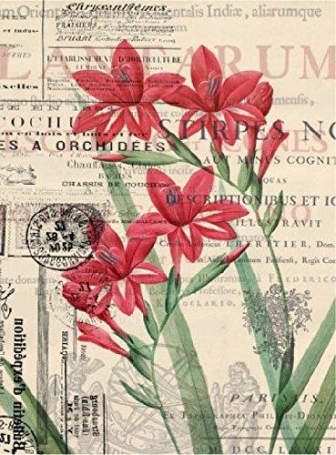 Cadence Papel de Arroz Flores Rojas 30x41 cm.