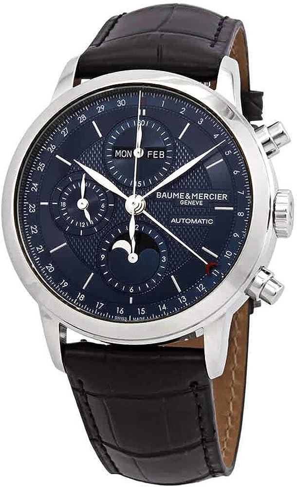 Baume & mercier classima orologio da uomo completo con calendario 10484