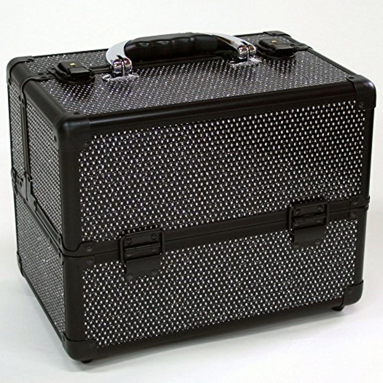 来て不足ドラムメイクボックス|D2671K-2|軽量タイプ|コスメボックス 化粧箱 メイクアップボックス|Make box MAKE UP BOX (ブラック)