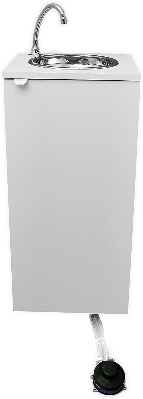 Fregadero portátil, independiente de red hidráulica y eléctrica, certificado, mod. Basic blanco